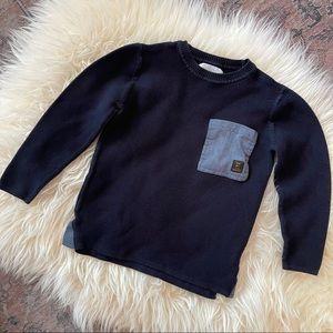 Zara boys navy crew neck sweater size 7